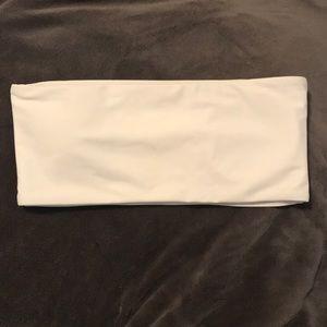 White bandeau bikini top